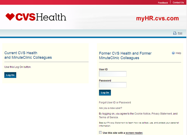 Myhr Cvs Login