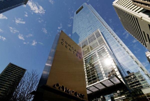 The Comcast Headquarters at Comcast Center, 1701 JFK Boulevard, Philadelphia.