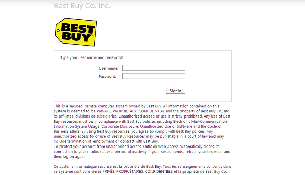 HR Best Buy Login